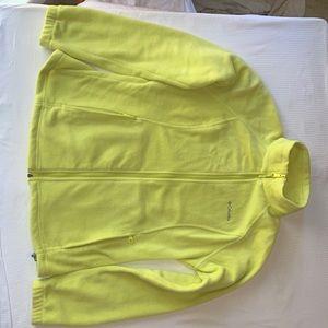 Columbia ~ front zip fleece in bright yellow